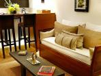 Living Room Area with Coffee Table Books of Buenos Aires