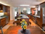 Our Kitchen is amazing with brazillian cherry cabinetry, 2 dishwashers,  & 3 ovens, tons of granite!