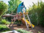 Play structure in the yard for your kids!