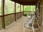 Covered Porch with Rocking Chairs
