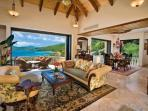 Living area/ Lanai - Dining  Area  open air or closed 11 ft glass sliding doors