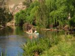 Kids Canoeing the Bowman River on Dam It Getaway