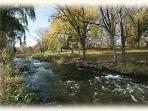 Minnehaha Creek 3 blocks away at Burwell House Park-National Registry of Historic Places with mill
