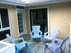 The deck can be accessed from the living room and the 2nd guest bedroom
