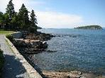 Bar Harbor Shorepath in front of 'Devilstone!'