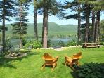 Picnic Table, Chairs, Firepit, Grill all Lakeside