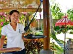 Koman, guest services. She speaks fluent English and is your daily point of contact.