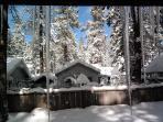 Back yard winter scene