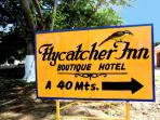 Turn in at Flycatcher Inn Boutique Hotel sign on Highway 261 about 10 minutes Southeast of Uxmal