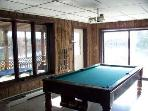 Recreation Room with entrance to lower deck and pool table