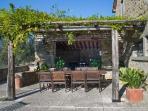 Back patio pergola