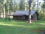 Our historic log cabin was built by the CCCs in 1930s and moved to our property in Vanocker Canyon.