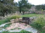 Front yard sitting area
