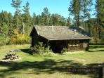 Our Log Cabin sits on 5 Private Acres with no other structures around--and not within a development.