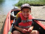 Kayaking Salt Pond at the National Seashore Visitor Center in Eastham -- 3.3 miles from the house