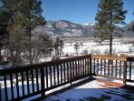View off of large deck. Perfect spot to relax after a day on the slopes, golf course or spa