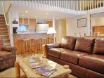 Leather Sofa, Armchair, Kitchen Bar