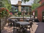 Outdoor Dining By the Pool & Clubhouse