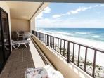 Your own access to the balcony from your master bedroom
