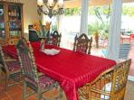 Large Dining Room Seats 10 and Overlooks Private Pool and Patio