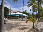 Fine dining on the beach at the Caribbean Fish Market.  Casual dining at Sangria's & a beach bar.