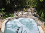 Relax in the hot tub next to the pool, beach bar, and Caribbean sea