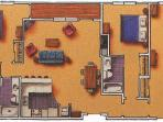 Three bedroom layout