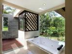 Saraswati jacuzzi tub and view