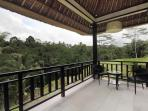 Dhanya room balcony overlooking rice terraces