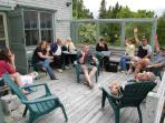 Renters enjoying deck