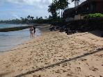 Beach out front during low tide
