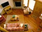 Arial View of upstairs Living Room Area