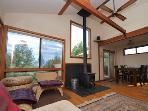 Hummingbird House, High open-beamed ceiling