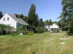 1780 Farmhouse on left, Harborfields Gazebo on right