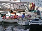 The Harborfields dock is center for family waterfront activity