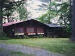 Front of cabin from Route 73