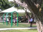 Park within 3 blocks of the property with swings and jungle gym and slides for kids