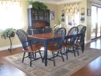 Dining Room comfortably seats 8