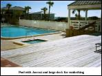 Swimming pool with a large Sun bathing deck