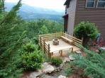 Spectacular View overlooking Wears Valley. Landscaped Waterfall,Deck with Stacked Stone Gas Fire Pit