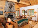 Cozy Den with Wood Burning Fireplace