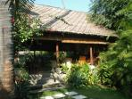 the veranda, full open on thegarden