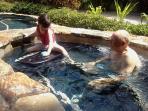 Enjoying the spa