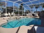 Huge Private Heated Pool and Spa With Orange and Grapefruit Trees in Back Yard