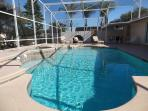 Huge Private Heated Pool and Spa With Orange and Graprfurit Trees in Back Yard
