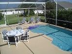 Seating round the pool