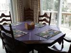 Dining room table seats 8 people