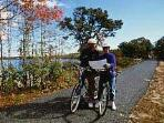 The Cape Cod Rail trail and Sea to Shining Sea bike trails 20-25 minutes away.