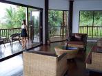 Spacious lounge and balcony