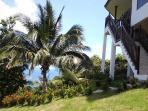 Tropical garden with sea views
